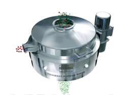 vibratory sieve for pharmaceutical dust containment